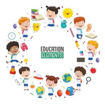 Ilustración vectorial de diseño de concepto de educación