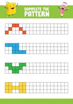 Ilustración vectorial de ejercicio de patrón completo