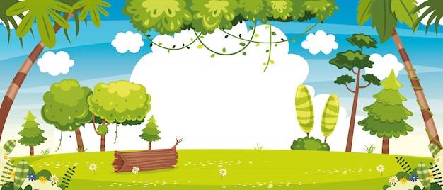 Ilustración vectorial de la escena de la naturaleza