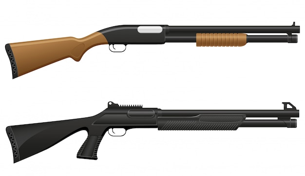 Ilustración vectorial escopeta