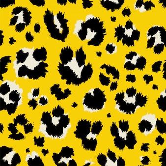Ilustración vectorial estampado leopardo de patrones sin fisuras