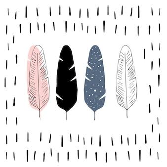 Ilustración vectorial en estilo escandinavo