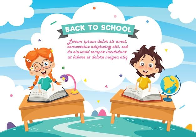 Ilustración vectorial de estudiantes
