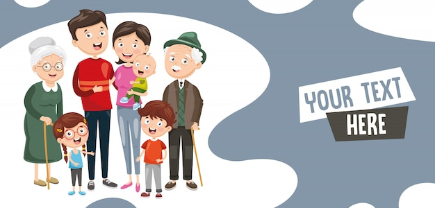 Ilustración vectorial de la familia