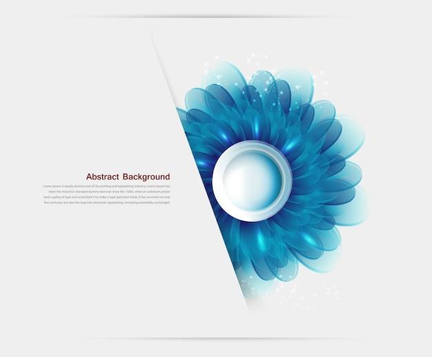 Ilustración vectorial con flores azules y