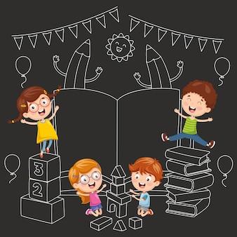 Ilustración vectorial de fondo de educación