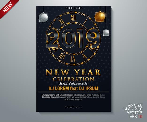Ilustración vectorial de fondo de navidad 2019