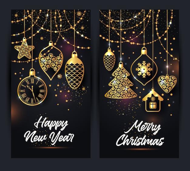 Ilustración vectorial de fondo de navidad