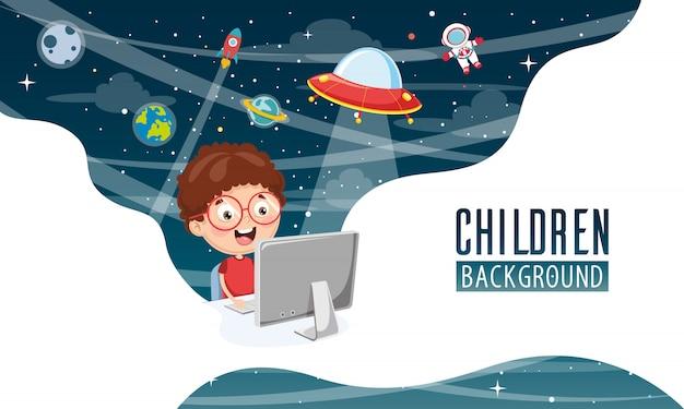 Ilustración vectorial de fondo de los niños