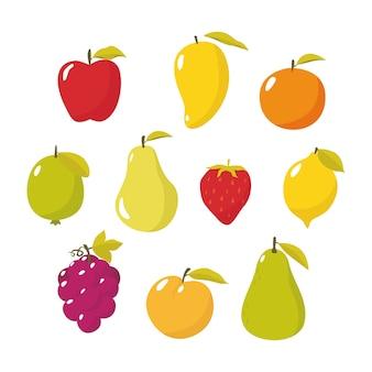 Ilustración vectorial de frutas