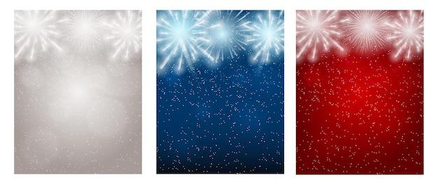 Ilustración vectorial de fuegos artificiales, saludo sobre un fondo oscuro eps10