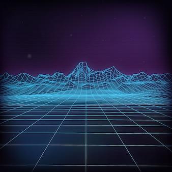 Ilustración vectorial futurista 3d