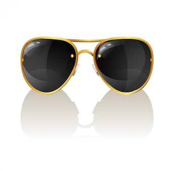 Ilustración vectorial de gafas de sol con estilo aviador