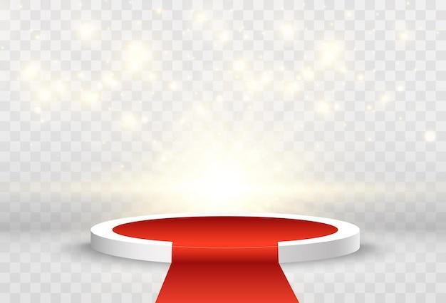 Ilustración vectorial para los ganadores del premio pedestal o plataforma para honrar a los ganadores del premio