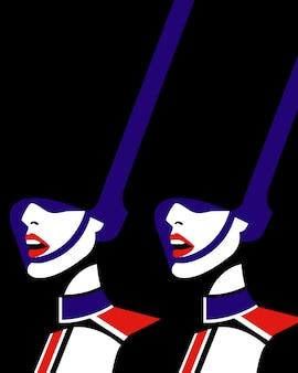 Ilustración vectorial de guardias reales británicos guardias reales