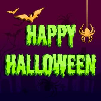 Ilustración vectorial de halloween en rosa