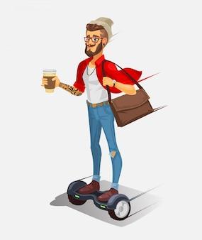 Ilustración vectorial de un hipster fresco