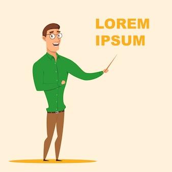 Ilustración vectorial hombre en gafas business coach
