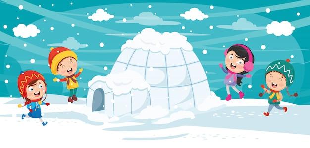 Ilustración vectorial de igloo