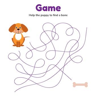 Ilustracion vectorial juego para niños en edad preescolar.