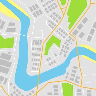 Ilustración vectorial mapa