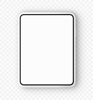 Ilustración vectorial maqueta de tableta sobre fondo aislado