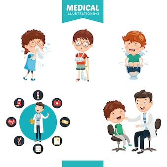 Ilustración vectorial de medicina