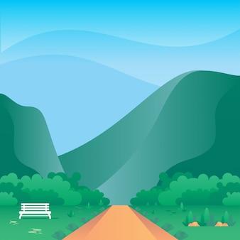 Ilustración vectorial de montaña