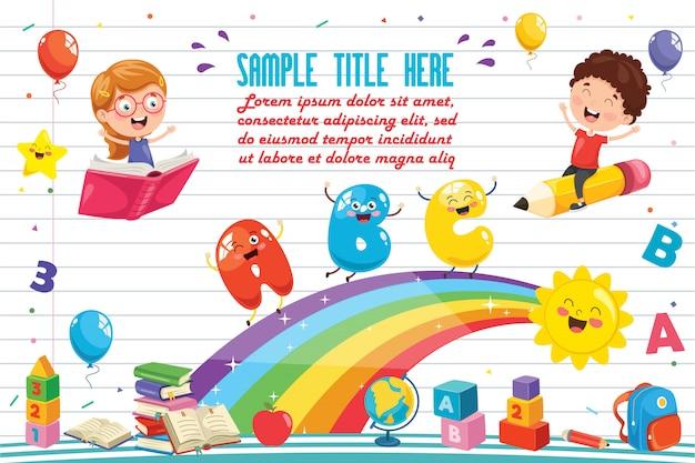 Ilustración vectorial de los niños del arco iris