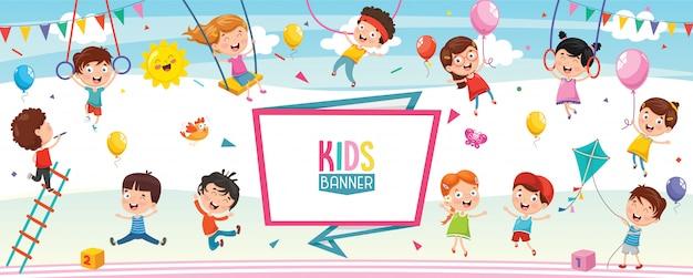 Ilustración vectorial de niños de dibujos animados