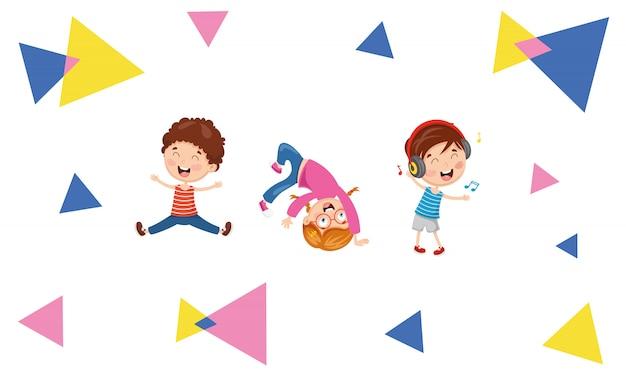 Ilustración vectorial de niños resumen antecedentes