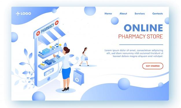 Ilustración vectorial de la página web o página de destino