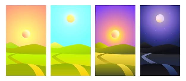 Ilustración vectorial paisaje