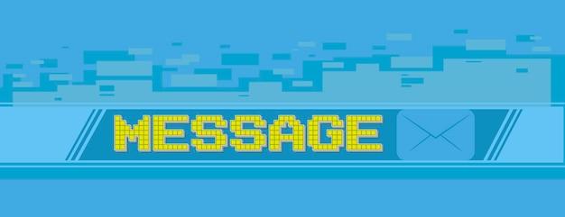 Una ilustración vectorial de la pantalla de masaje de píxeles amarillos en la ilustración de fondo azul
