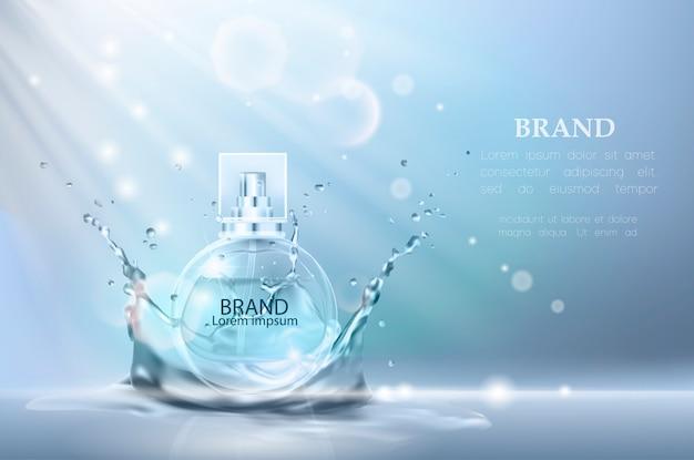 Ilustración vectorial de un perfume de estilo realista.