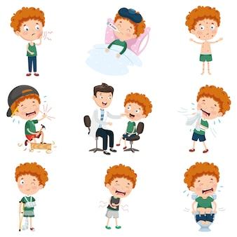 Ilustración vectorial de personaje de dibujos animados