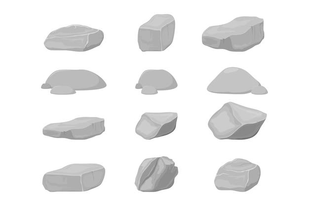 Ilustración vectorial de piedra