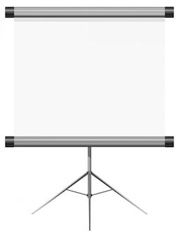 Ilustración vectorial de una presentación en blanco