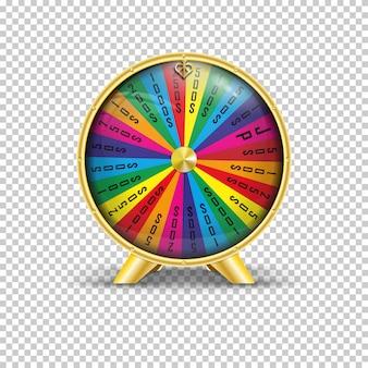 Ilustración vectorial realista de la rueda de la fortuna.