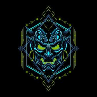 Ilustración vectorial de ronin evil devil samurai