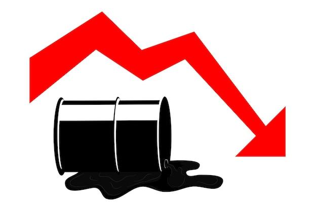 Ilustración vectorial simple para la crisis mundial del petróleo