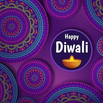 Ilustración vectorial sobre el tema de las vacaciones diwali. festival de luz y fuego deepavali.