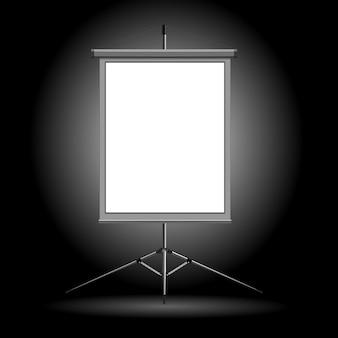 Ilustración vectorial del stand sobre un fondo oscuro.