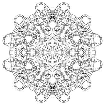 Ilustración vectorial steampunk