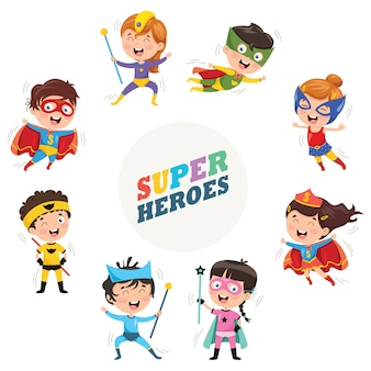 Ilustración vectorial de superhéroes