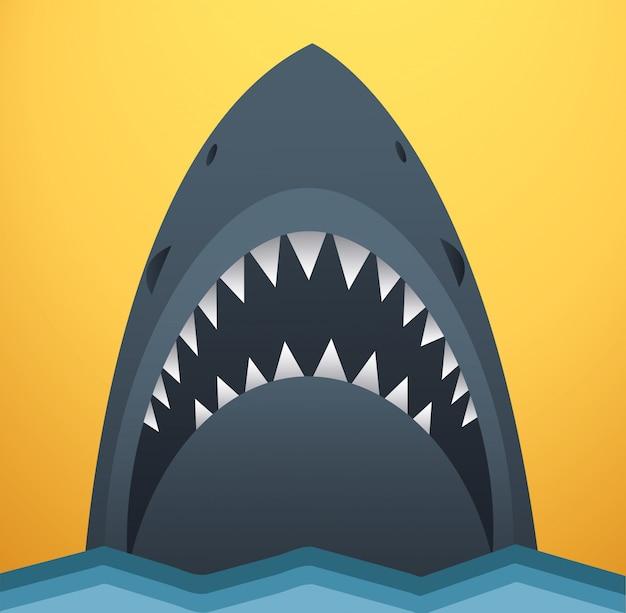 Ilustración vectorial de tiburón