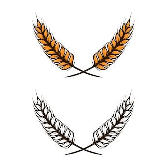 Ilustración vectorial de trigo