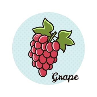 Ilustración vectorial de uva.