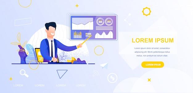 Ilustración vectorial ver blog de negocios en línea