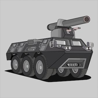 Ilustración de vehículo militar